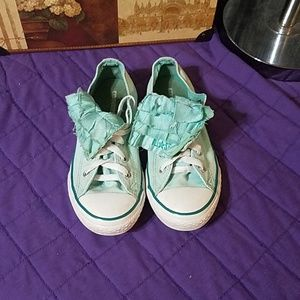 Converse All Star low tops with ruffle